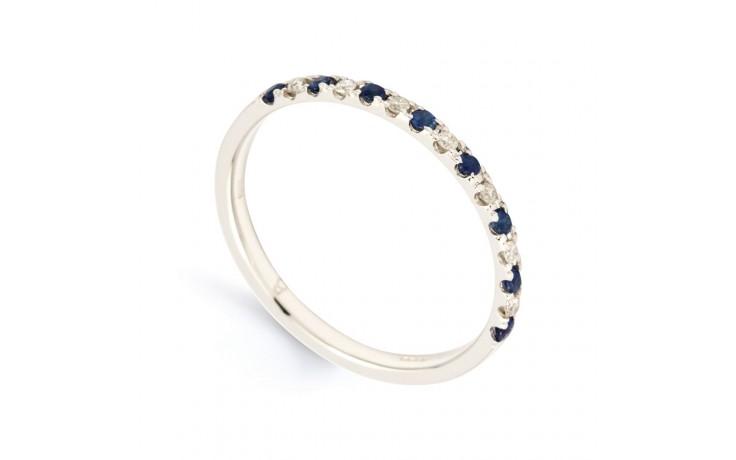 Larissa Blue Sapphire & Diamond Eternity Ring product image 2
