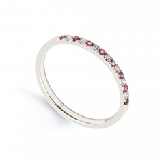 Larissa 18ct White Gold Pink Sapphire and Diamond Eternity Ring image 1