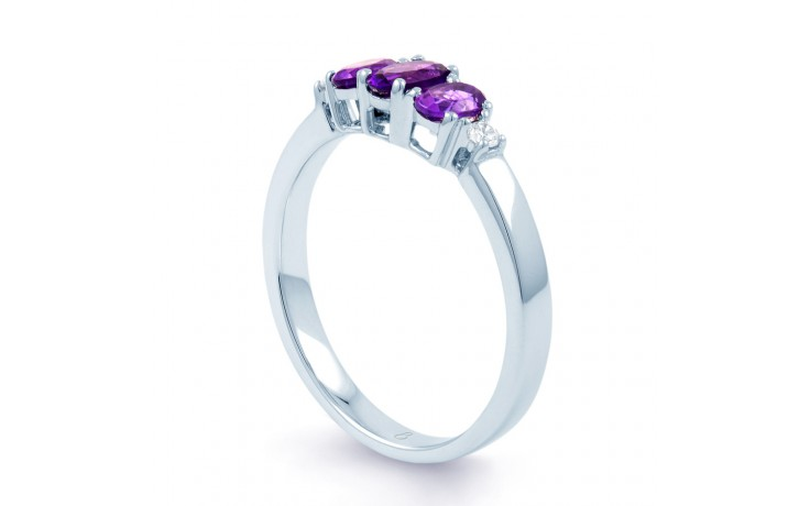 Amethyst Trilogy Ring product image 2