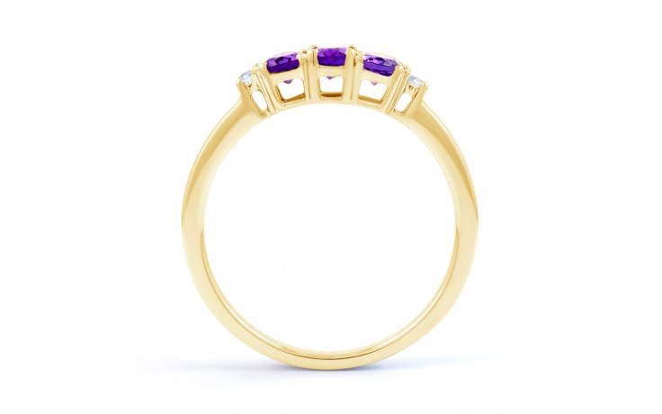 Amethyst Trilogy Gold Ring product image 3