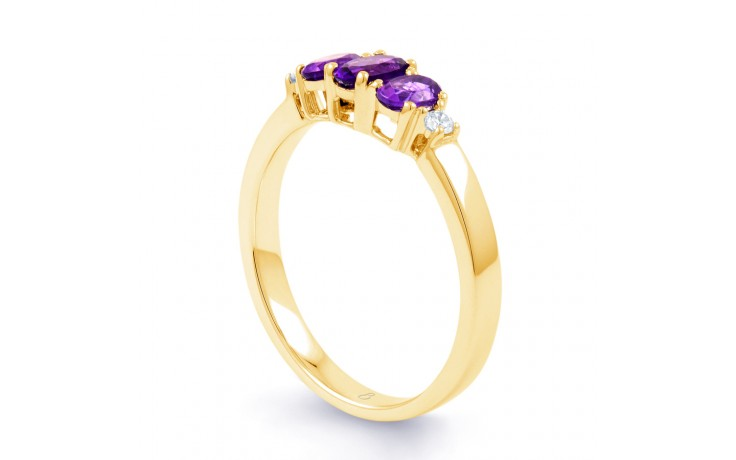 Amethyst Trilogy Gold Ring product image 2