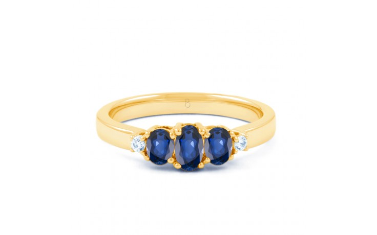 Blue Sapphire Trilogy Gold Ring product image 1