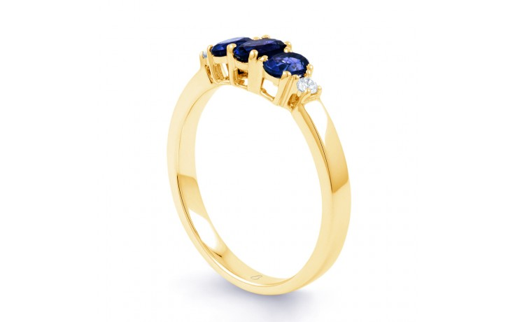 Blue Sapphire Trilogy Gold Ring product image 2
