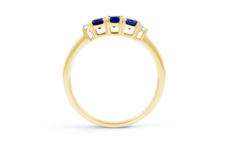 Blue Sapphire Trilogy Gold Ring product image 3