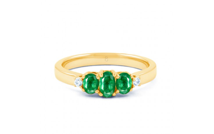 Emerald Trilogy Gold Ring product image 1