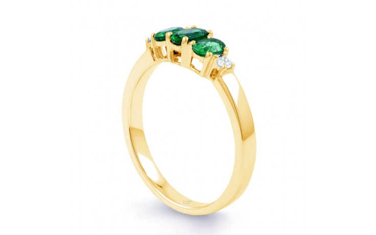 Emerald Trilogy Gold Ring product image 2