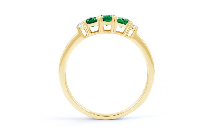 Emerald Trilogy Gold Ring product image 3