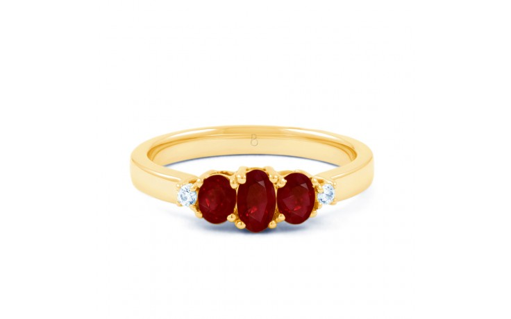 Ruby Trilogy Gold Ring product image 1