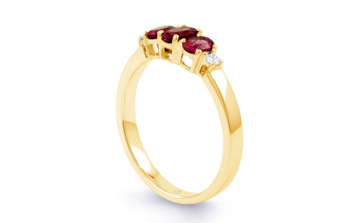 Ruby Trilogy Gold Ring product image 2