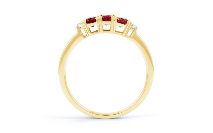 Ruby Trilogy Gold Ring product image 3