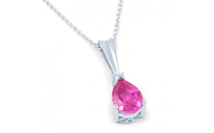 Pear Pink Sapphire Pendant product image 1