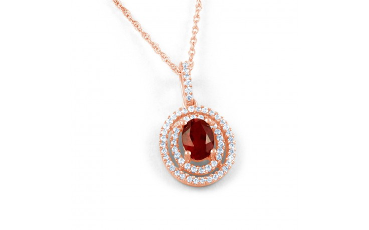 Oval Ruby Pendant product image 1