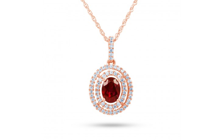 Oval Ruby Pendant product image 2