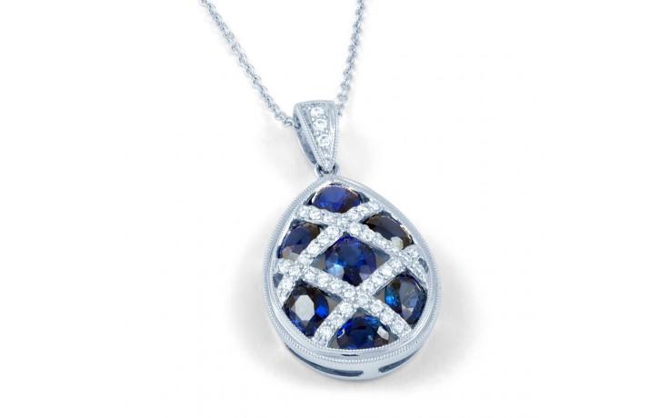 Egg Blue Sapphire Pendant product image 1
