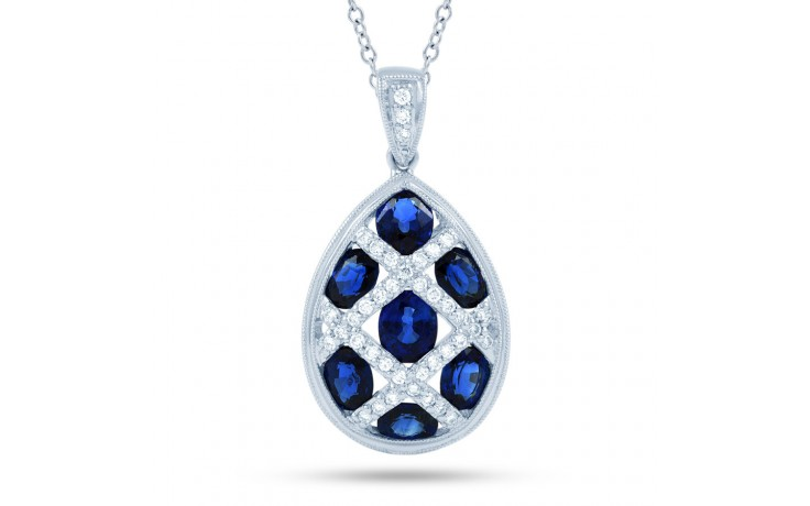 Egg Blue Sapphire Pendant product image 2