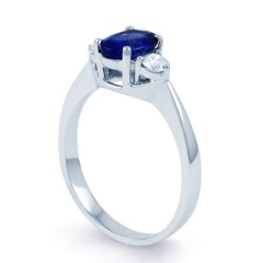 Paragon Blue Sapphire Engagement Ring  image 1
