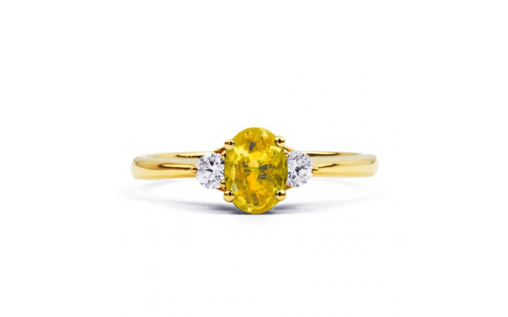 Paragon Citrine & Diamond Gold Ring product image 1