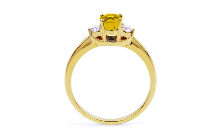 Paragon Citrine & Diamond Gold Ring product image 3