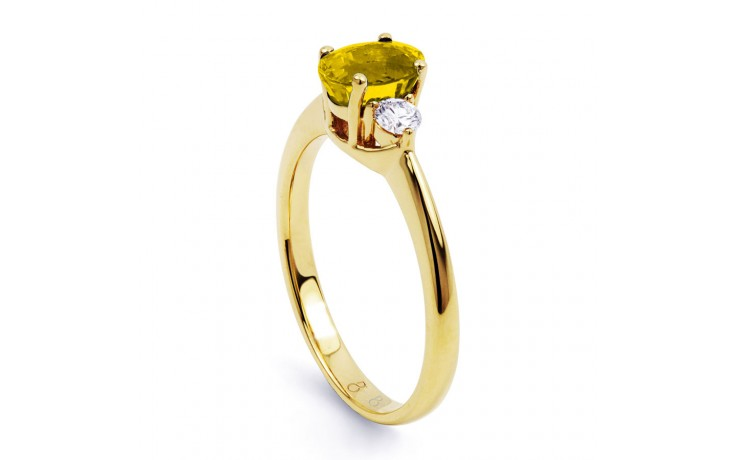 Paragon Citrine & Diamond Gold Ring product image 2