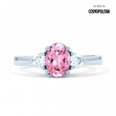 Paragon 18ct White Gold Pink Sapphire and Diamond Engagement Ring image 0