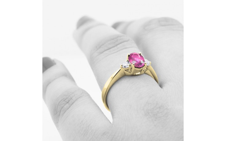 Paragon Pink Sapphire Gold Ring product image 4