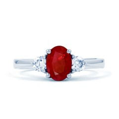 Paragon 18ct White Gold Ruby Engagement Ring image 0