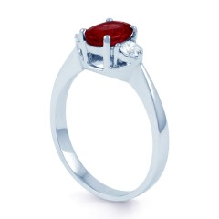 Paragon 18ct White Gold Ruby Engagement Ring image 1