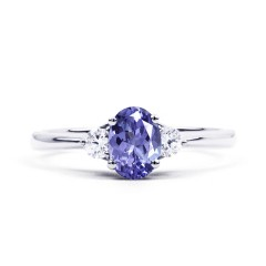 Paragon 18ct White Gold Tanzanite and Diamond Engagement Ring image 0