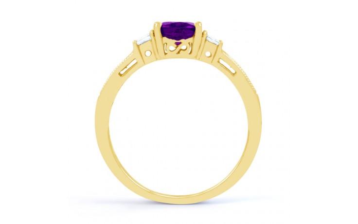 Arya Amethyst & Diamond Gold Ring product image 3