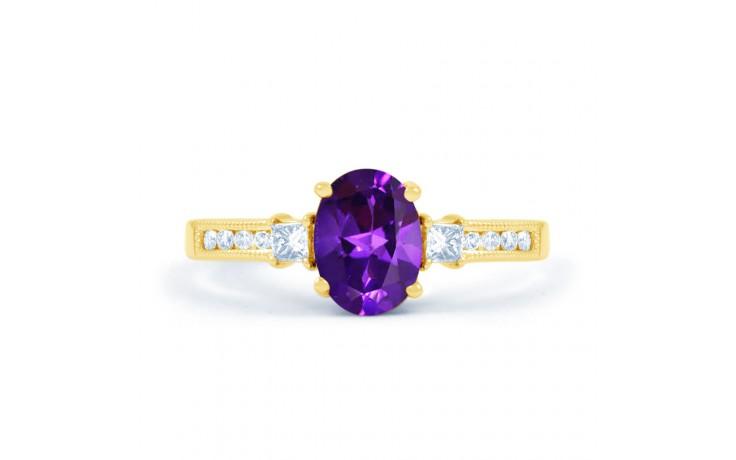 Arya Amethyst & Diamond Gold Ring product image 1