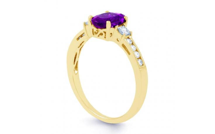Arya Amethyst & Diamond Gold Ring product image 2