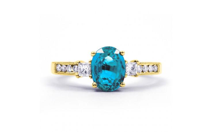 Arya Blue Topaz & Diamond Gold Ring product image 1