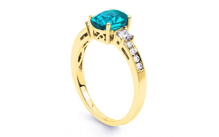 Arya Blue Topaz & Diamond Gold Ring product image 2