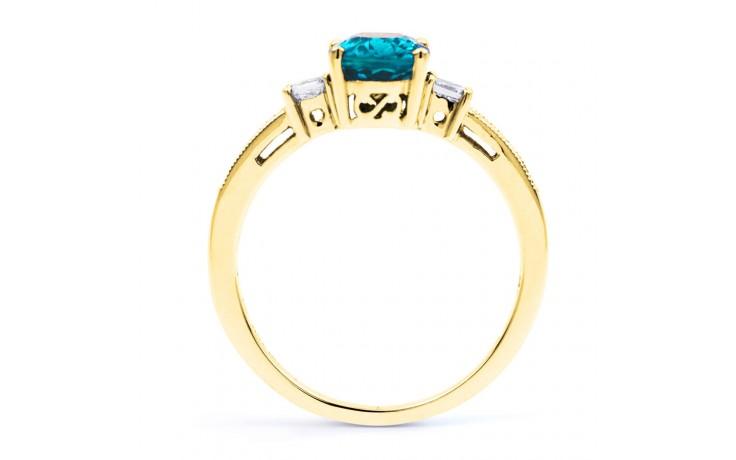 Arya Blue Topaz & Diamond Gold Ring product image 3