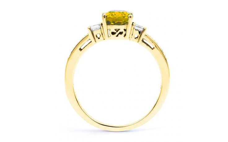 Arya Citrine & Diamond Gold Ring  product image 3