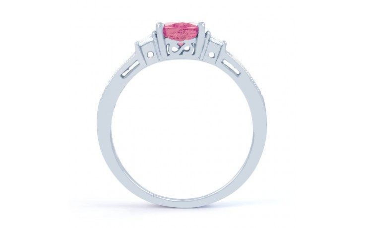 Arya Pink Sapphire White Gold Ring product image 3