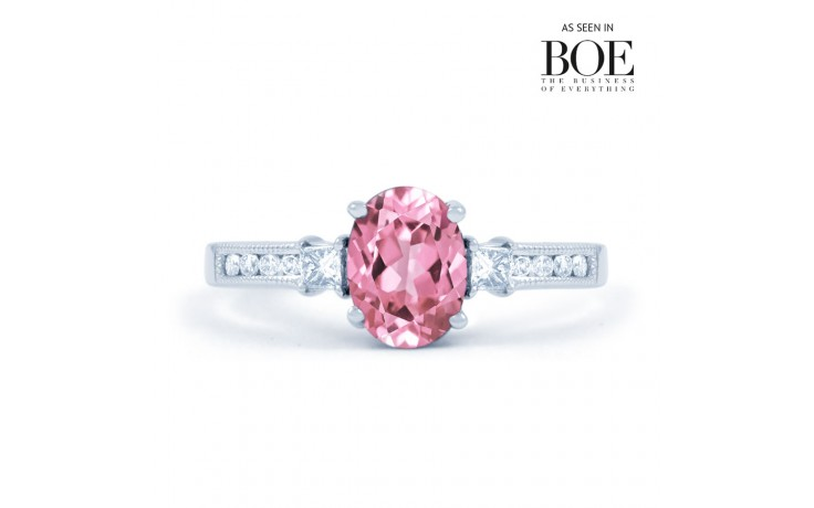 Arya Pink Sapphire White Gold Ring product image 1