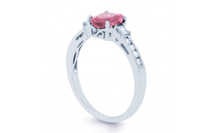 Arya Pink Sapphire White Gold Ring product image 2