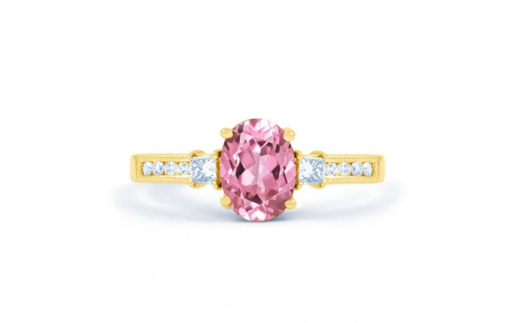 Arya Pink Sapphire Yellow Gold Ring product image 1