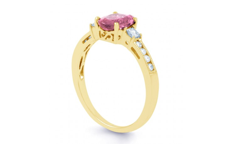 Arya Pink Sapphire Yellow Gold Ring product image 3