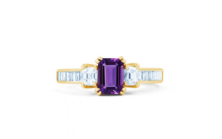 Devi Amethyst & Diamond Gold Ring product image 1