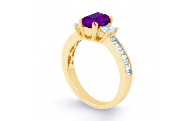 Devi Amethyst & Diamond Gold Ring product image 2