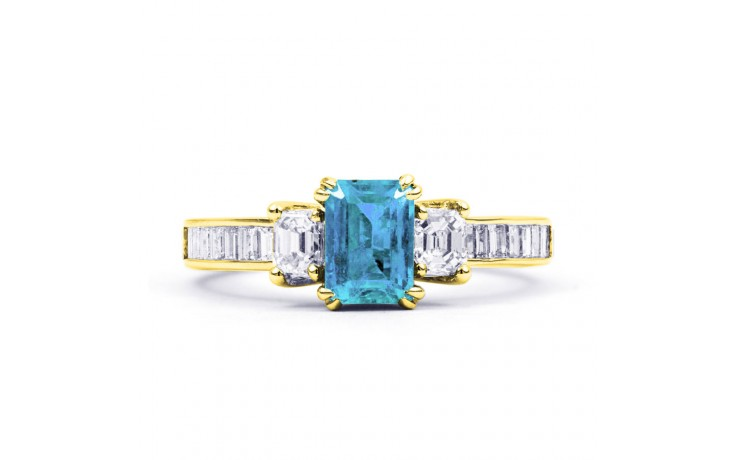 Devi Aquamarine Ring In Yellow Gold product image 1
