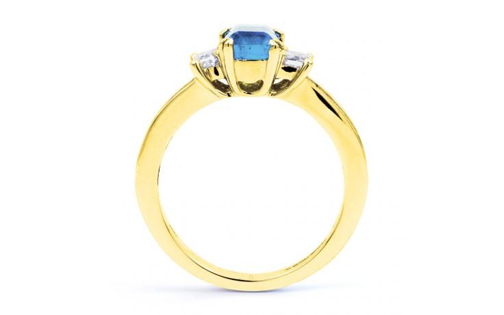 Devi Aquamarine Ring In Yellow Gold product image 3