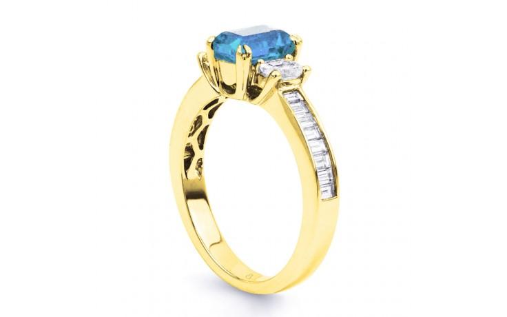 Devi Aquamarine Ring In Yellow Gold product image 2