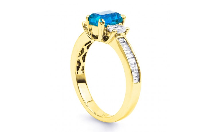 Devi Blue Topaz & Diamond Gold Ring product image 2