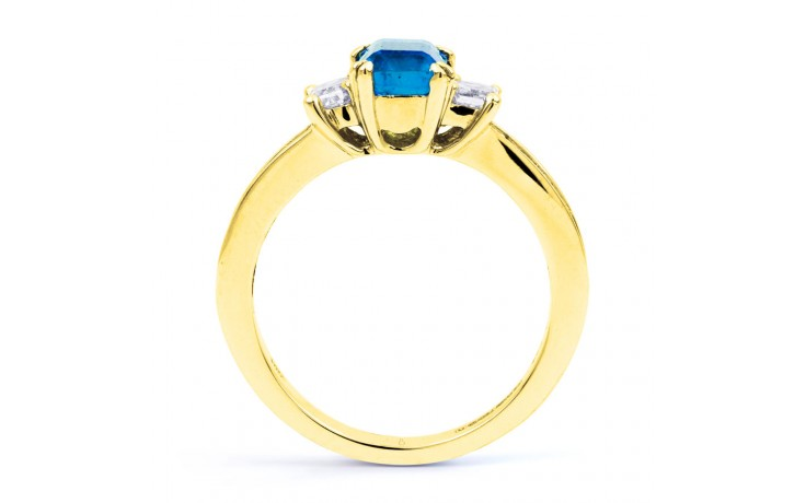 Devi Blue Topaz & Diamond Gold Ring product image 3
