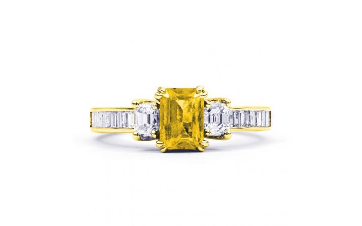 Devi Citrine & Diamond Gold Ring product image 1