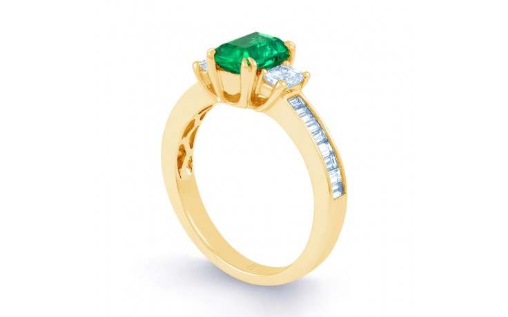 Devi Emerald Gold Ring product image 2