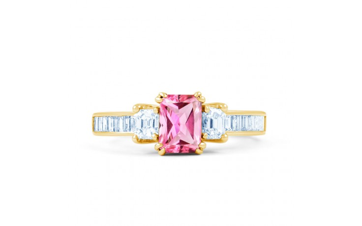 Devi Pink Sapphire Yellow Gold Ring product image 1